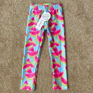 One In a Melon Lucy Blue Watermelon Leggings NWT